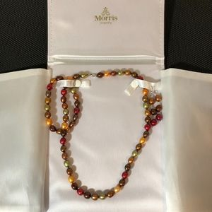 Colorful Freshwater Pearls Sterling Jewelry Set